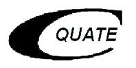 Quate logo white